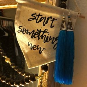 5 in blue tassels hand crafted great quality